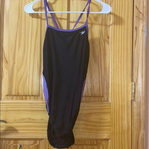 Purple/Black Speedo One Piece Swimsuit